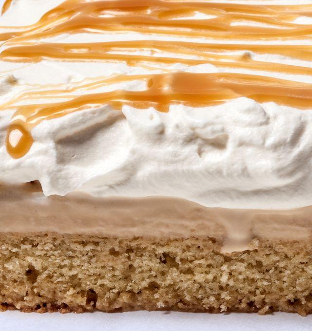 Vanilla–Salted Caramel Ice Cream Cake with Whipped Cream Recipe - CHOW.com