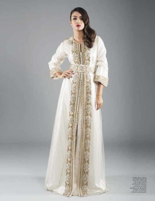 106 best images about caftan haute couture on pinterest for White kaftan wedding dress