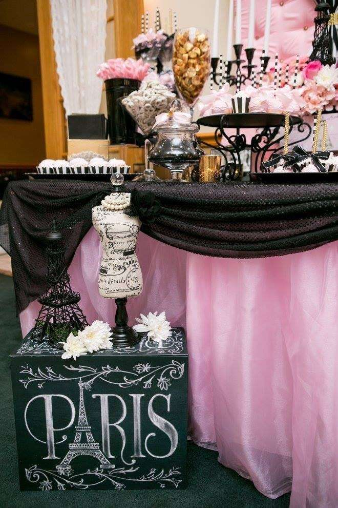 A Night In Paris Baby Shower Party Ideas