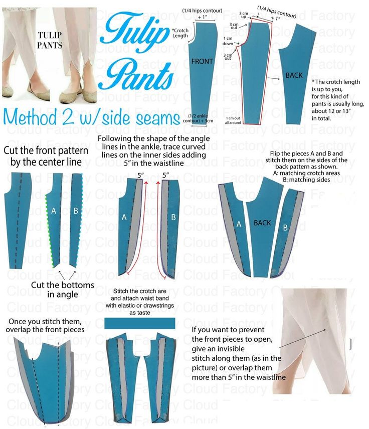 How to Cut / Stitch Tulip Pants