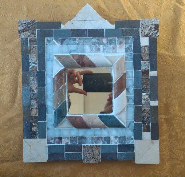 spiegel mosaik aus marmor und fliesen elisabeth stork. Black Bedroom Furniture Sets. Home Design Ideas