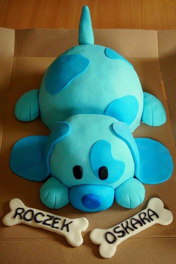 Tort Piesek - Niebieski