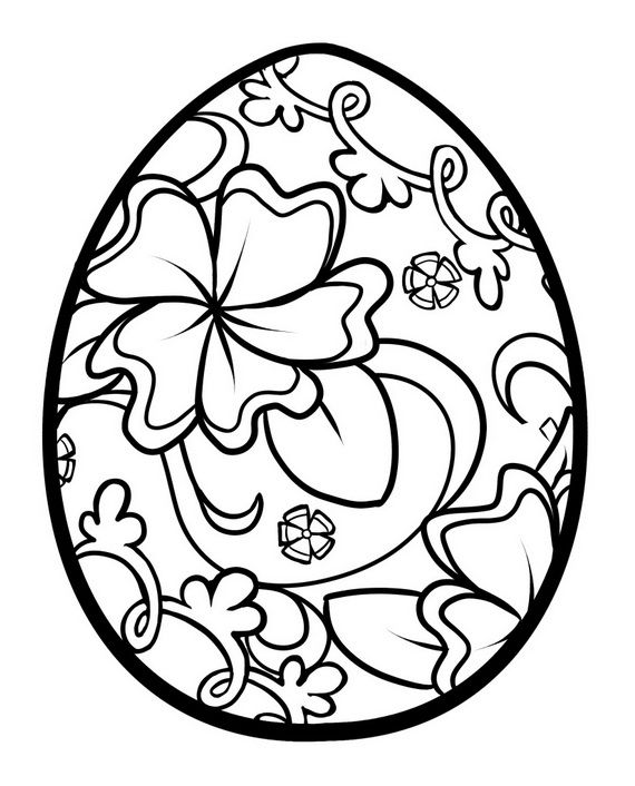 Unique Spring & Easter Holiday Adult Coloring Pages Designs | Family Holiday. Kleurplaat Pasen paasei