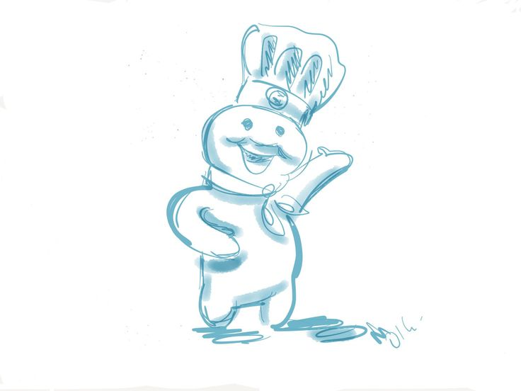 Así me veo cuando preparo un pastel; contento y regordete ;p