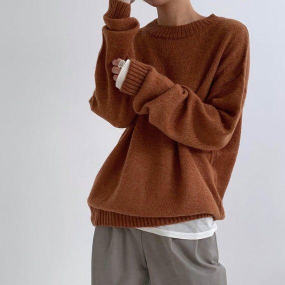 knitting aesthetic brown