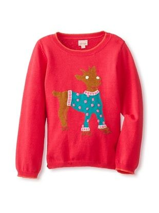 62% OFF Room 7 Girl's Koko 38 Long Sleeve Knitted Sweater (Bright Pink)