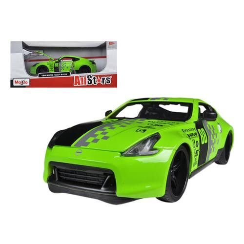 2009 Nissan 370Z #88 Green 1/24 Diecast Model Car by Maisto