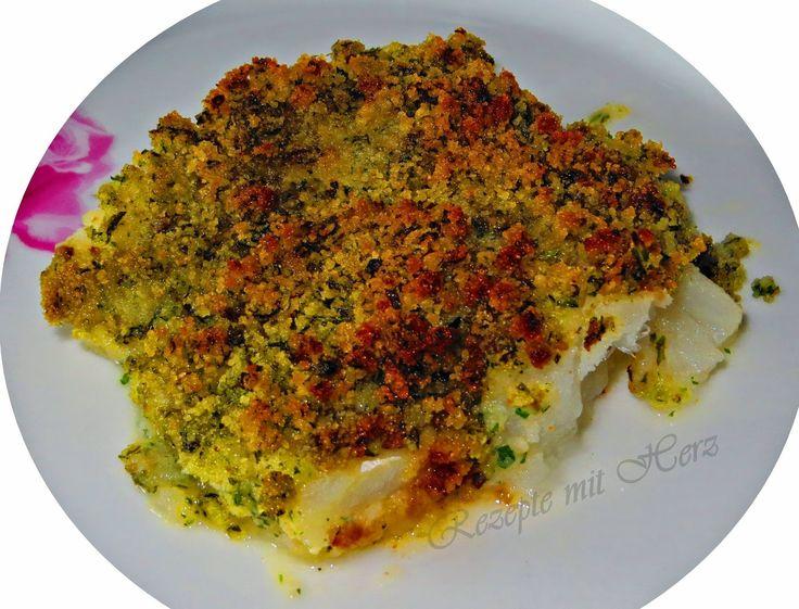 Thermomix - Rezepte mit Herz : Fischfilet mit Kräuterhaube