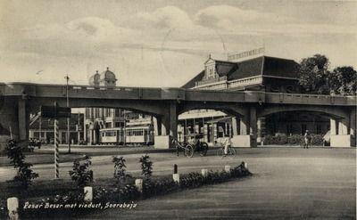 Viaduct over de Pasar Besar te Soerabaja 1925 (Collections KITLV)