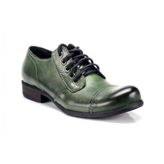 Zelené pánske kožené topánky COMODO E SANO - fashionday.eu