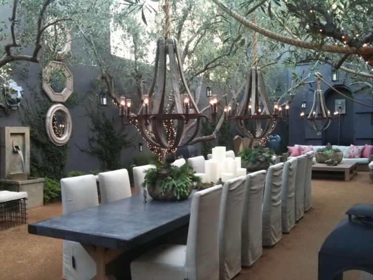 Restorationhardware dream home pinterest restoration for Restoration hardware outdoor dining