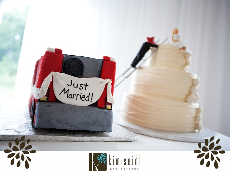 firefighter grooms cake! One day I see Tommy having a cake like this.