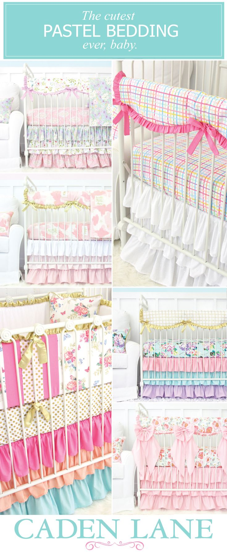 Shop ALL of our pastel crib bedding collections and start designing your dream…