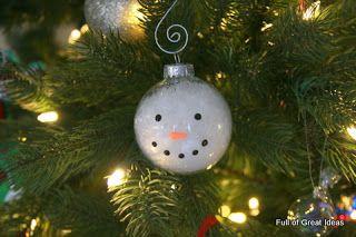 Full of Great Ideas: Snowman Ornament