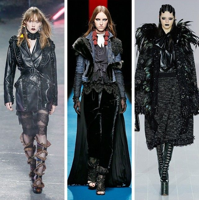 AW16 Fashion Trends on the catwalk at Rodarte, DSquared2 and Marc Jacobs