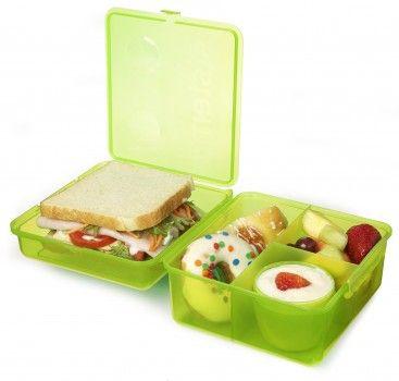 Kolorowa lunch kostka MAX z pojemnikiem na jogurt różowa Złote Okazje 24