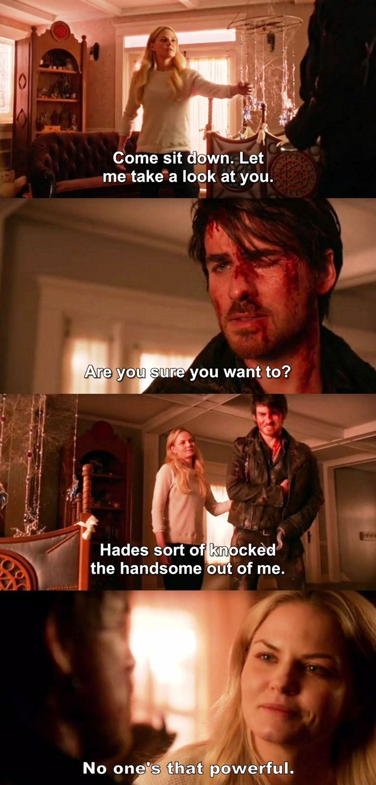 Once Upon a Time 5x15 - Captainswan. Aww! So cute!