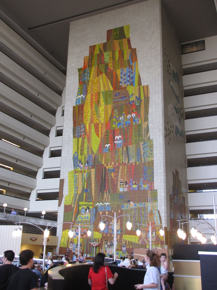 Mary Blair Mural at Contemporary Hotel in Disney World