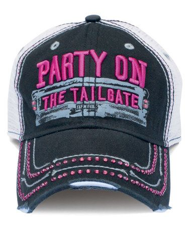 Love this Black 'Party On' Baseball Hat by Farm Girl on #zulily! #zulilyfinds