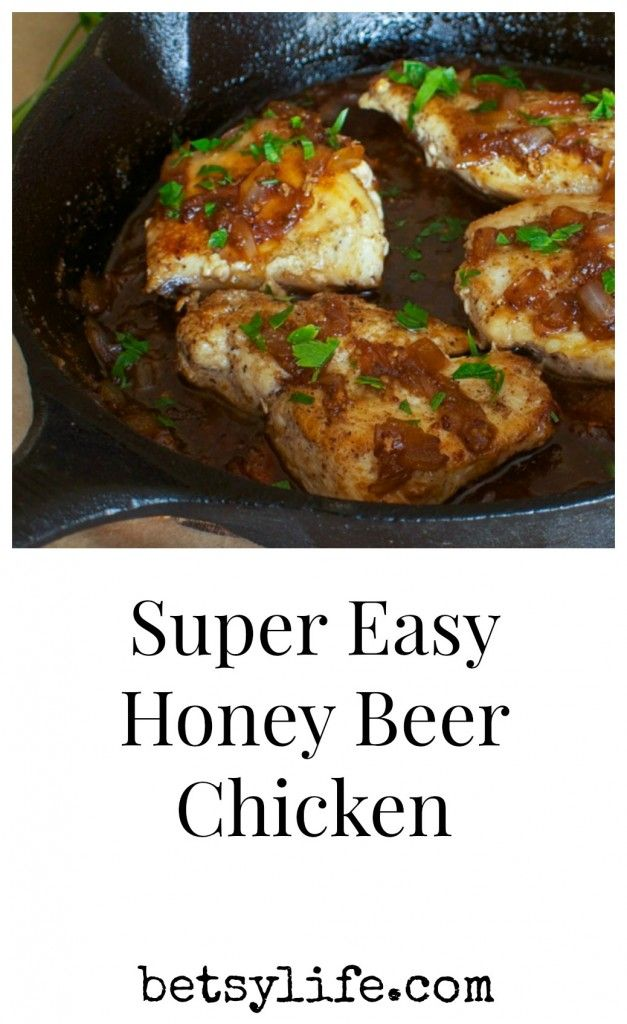 Super Easy Honey Beer Chicken Recipe. A healthy meal ready in no time.