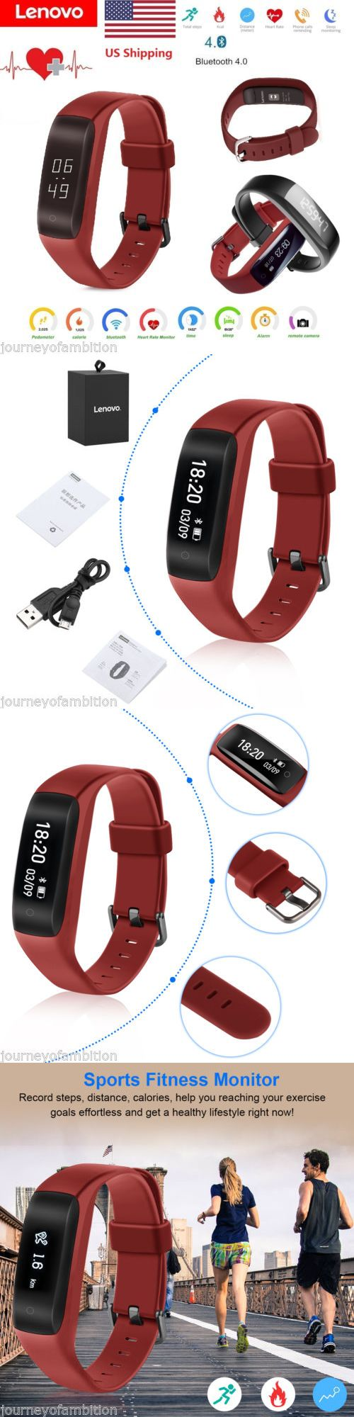 Smart Watches: Lenovo Smart Bracelet Heart Rate Sleep Pedometer Sedentary For Iphone Samsung Mi -> BUY IT NOW ONLY: $25.99 on eBay!
