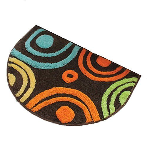 Bathroom Rugs Ideas | Ustide Half Round Multi Color Circle Rug For Living  RoomBed Room BathroomKitchen