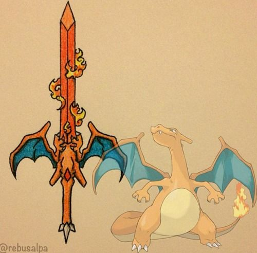 thepsychoemoreport: slegin: Pokemon weapons. pokemonn