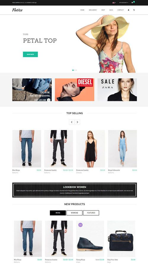 http://sundaestudio.com , Flatize WordPress Theme for Fashion eCommerce Websites ✿