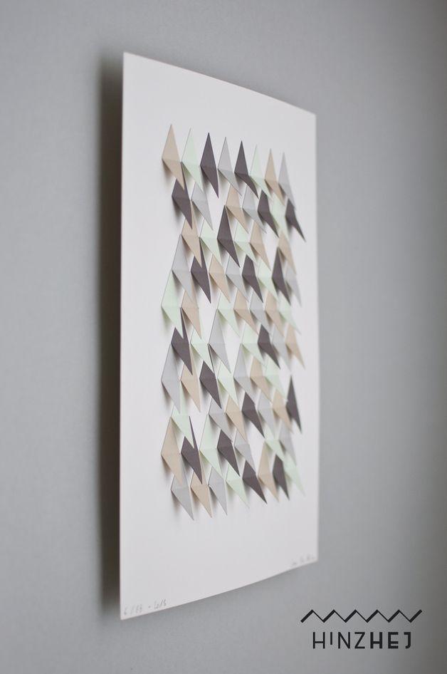 Grafisches Kunstwerk aus Papier