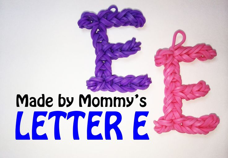 bands that start with the letter c letter e charm without the rainbow loom rainbow loom 4497
