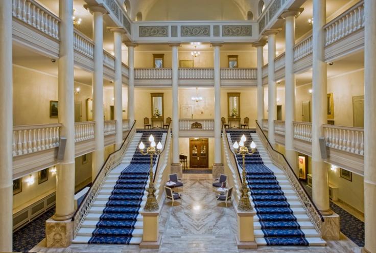 Radisson Blu Badischer Hof Hotel, Baden-Baden. Part of the lobby.the carpet was red when I went......