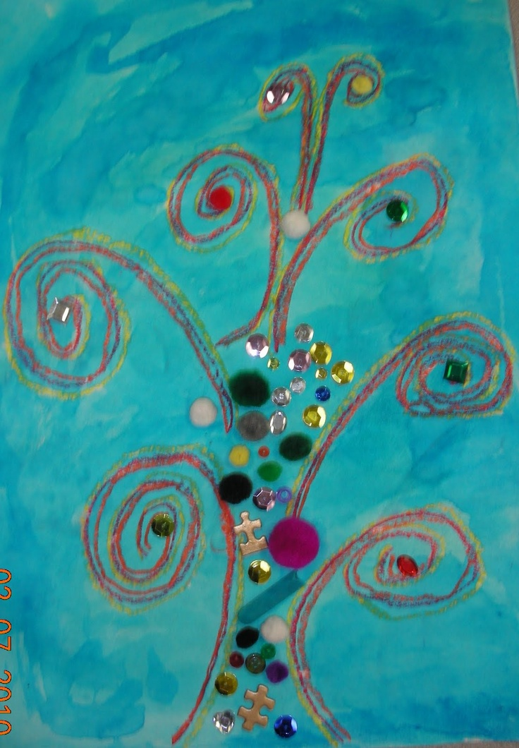 tree of life clip art | Klimt Tree Of Life Art Lesson.  Pre-K and K