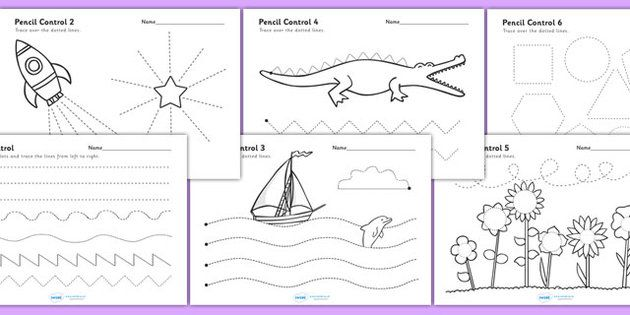 Fine Motor Control Worksheets : Worksheets pencil and activities on pinterest
