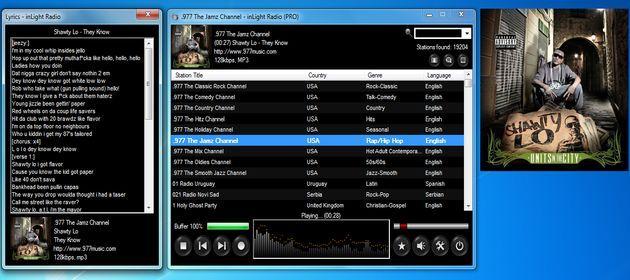 inLight Radio, software gratuito para escuchar alrededor de 20000 emisoras de radio online