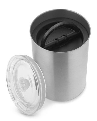 Airscape Stainless-Steel Storage Containers #WilliamsSonoma I have these and they are great.  Removes most of the air around your coffee beans to help keep longer.