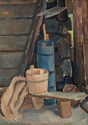 PEKKA HALONEN A Corner in the Sauna (1922)