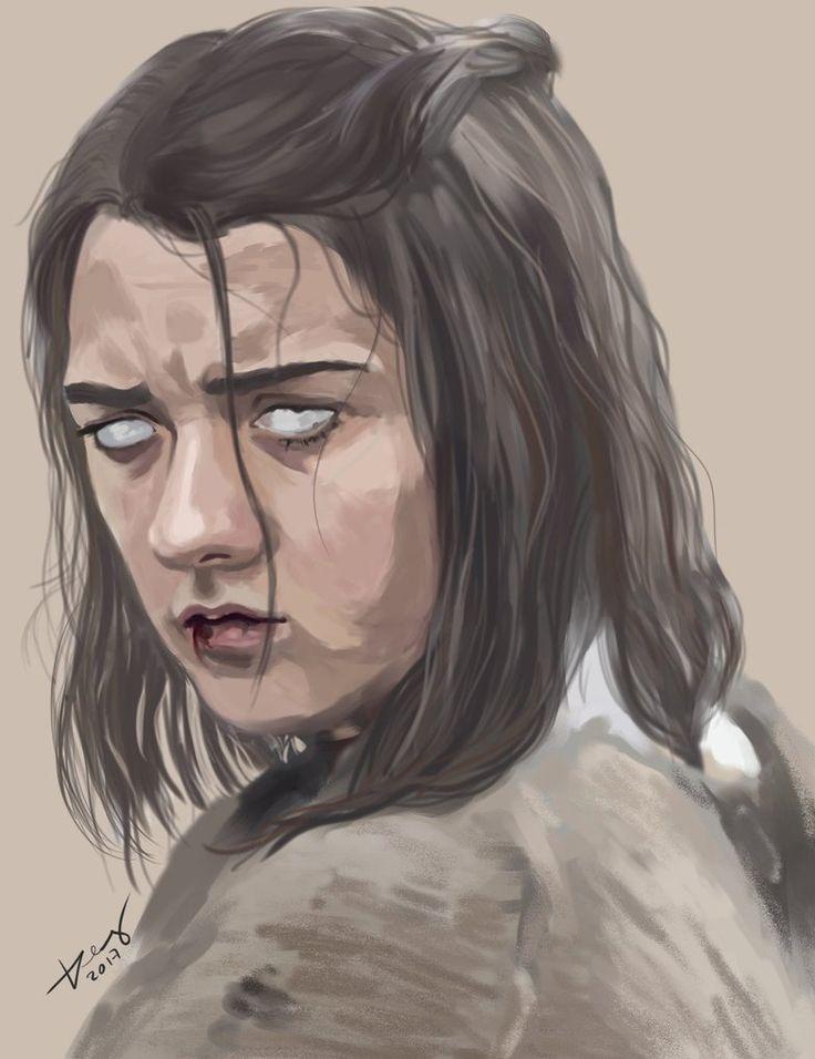 Blind Arya Stark by crazyL0cke.deviantart.com on @DeviantArt