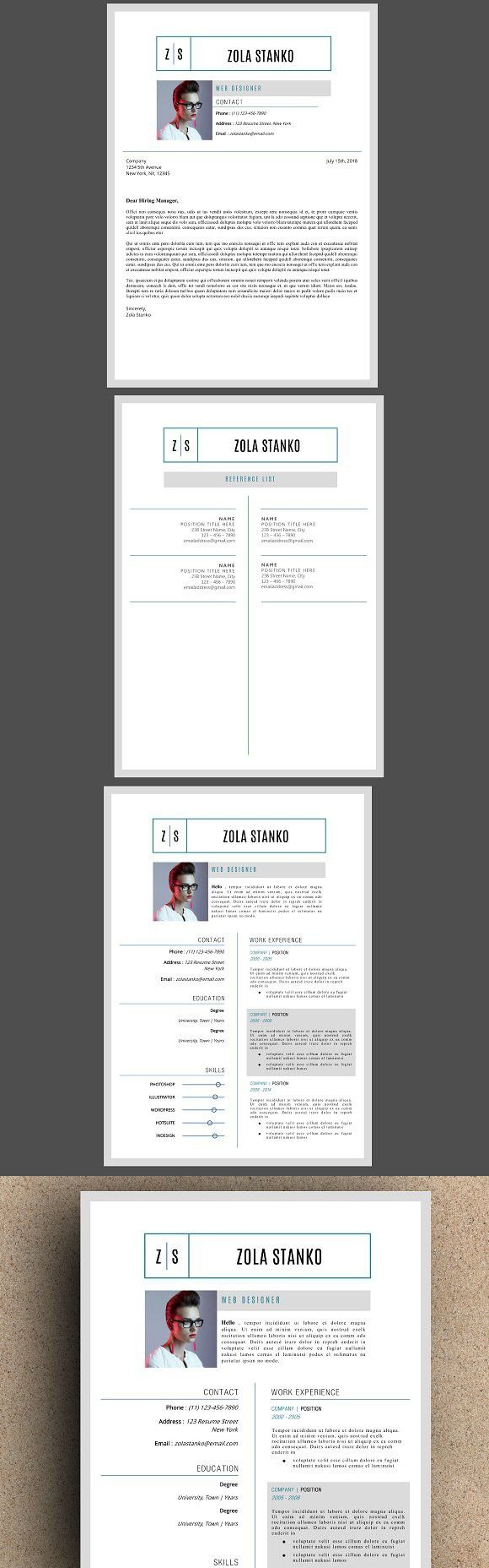 The Zola Resume Template 817 best Resume