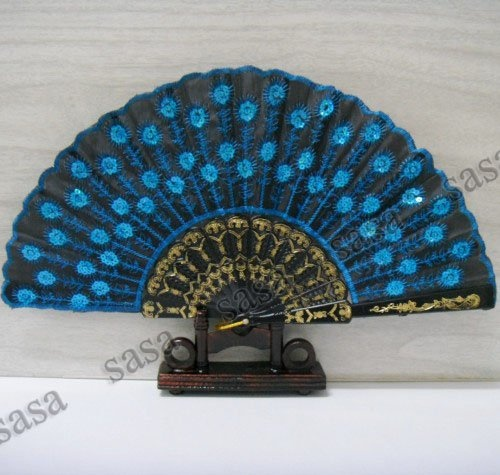 indian hand fan clipart. beautiful peacock fan indian hand clipart