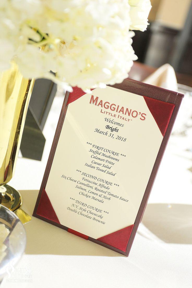 Maggianos las vegas wedding menu in 2020 wedding dj