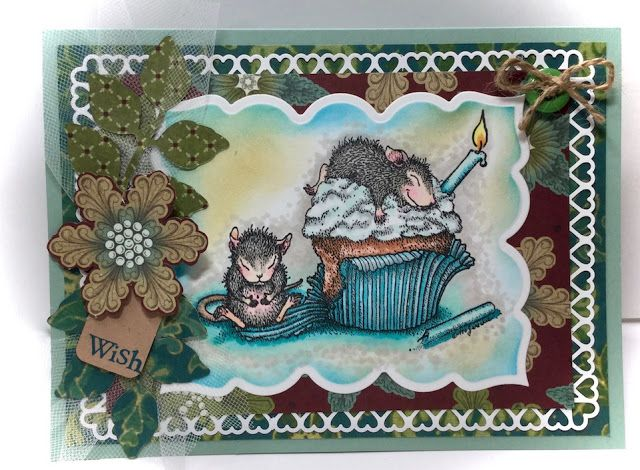 Creative Smiles - my little crafting world: House Mouse Challenge Anything Goes with BIRTHDAY IN DECEMBER theme