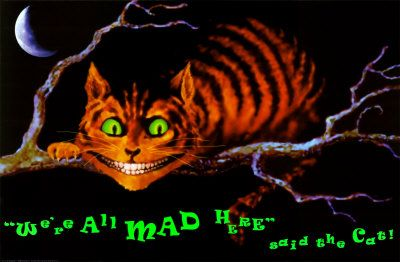 We're All Mad Here Pôster com luz ultravioleta