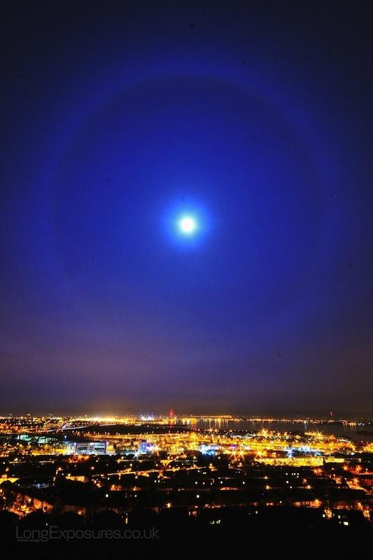 Full Moon over Portsmouth from Portsdown Hill