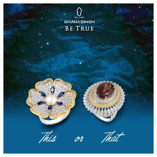 Life is too short to wear boring #jewellery. Isn't it!  Tell us, which Ghanasingh Be True #ring will you select to wear at a bachelorette party? #fashion #fashionjewellery #lovefor jewellery #designerjewellery
