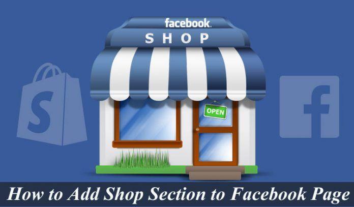 Facebook meluncurkan, shop section.