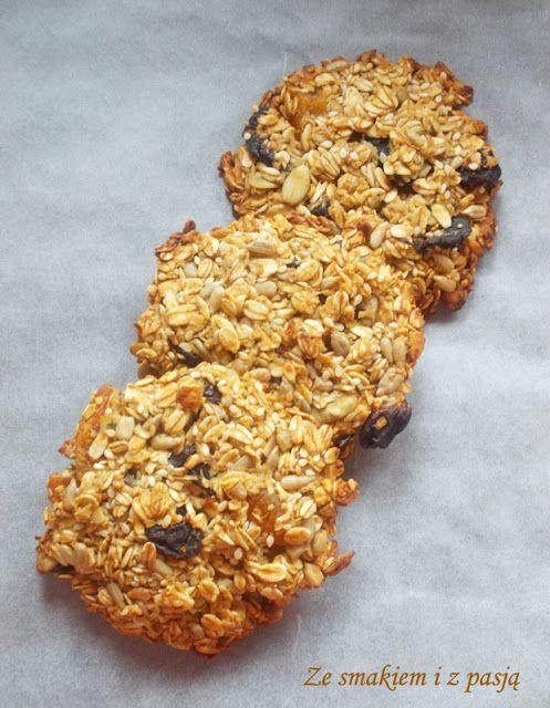 Ze smakiem i z pasją: Zdrowe ciasteczka owsiane z ziarnami i suszonymi o...