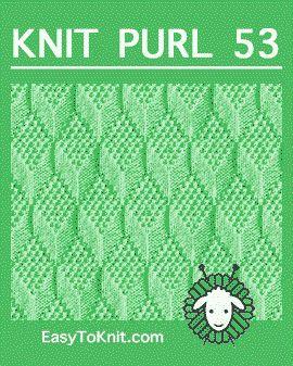Knit Purl 53: Moss Diamond e Lozenge - fácil de tricotar