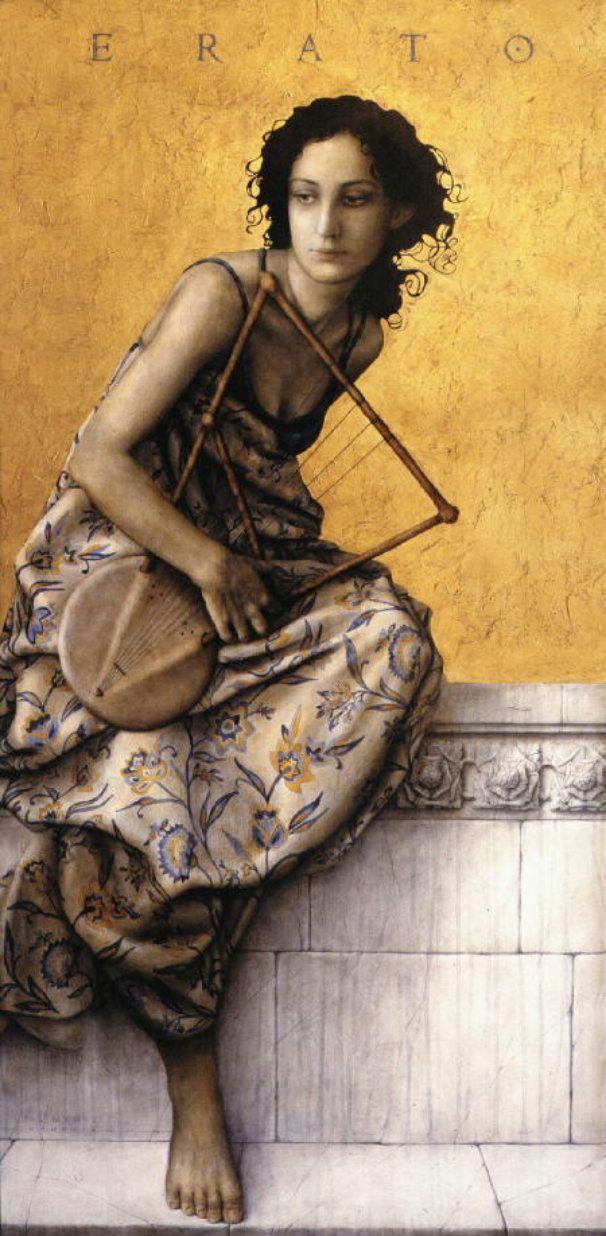 pearl-nautilus:  Erato - Muse of Love Poetry Painting byJose Luis Munoz Luque