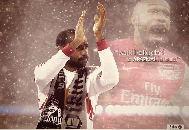 Arsenal legend --Thierry Henry