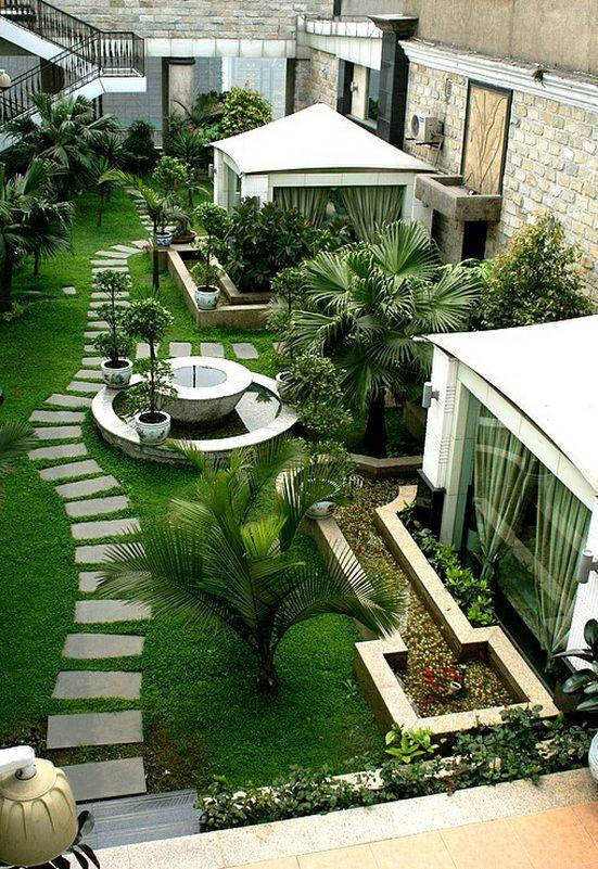 Beautiful roof garden